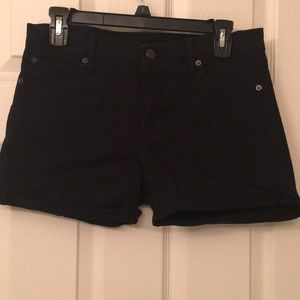 Gap black denim shorts